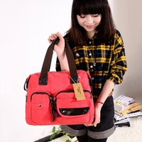 Wholesale Ladies Canvas Shoulder Bag Handbags Multi pocket Messenger Bags Satchel Tote Women Bag