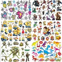 Wholesale 50styles Cartoon Anime Tattoos Stickers Batman Superhero The Avengers flowers Body Temporary Tattoos kits Stickers Body For Women Men
