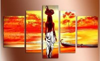 african restaurant - Modern African Landscape Oil Painting Decoration Home Modern Wall Art Pictures Abstract Restaurant Background Oil Paintings