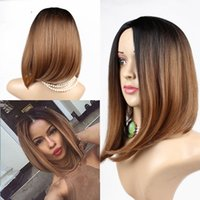Wholesale ombre synthetic wigs cheap short blonde wigs synthetic sexy female short haircut wigs Nice natural looking women wigs cosplay