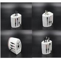 Wholesale Universal Global Travel Adapter Wall Charger Plug with Dual USB Port Converter Socket EU US UK AU Plug
