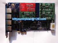 Wholesale AEX410 FXO FXS Asterisk card PCI E Connector card