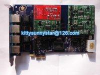 Wholesale AEX410 FXO FXS Asterisk card PCI E Connector card
