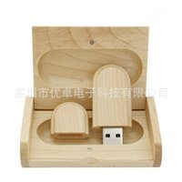 Wholesale Flash Jay bamboo wood rounded rectangle u disk G G32g support creative gifts custom logo spot