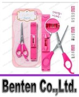 Wholesale DHL Free Set Scissors Ruler DIY Hair Trimmers Magic Bang Cutter Hair Styling Kit LLFA