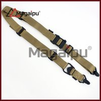 airsoft gun rifle - MRG GEN1 Tactical Point Rifle Sling System Strap Adjustable Hunting Bungee Airsoft Gun Sling Nylon Gun Strap Dark earth