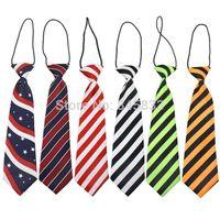 Wholesale Kids Neck Chokers - 2016 brand baby neck tie fashion boys necktie choker kids striped bow tie children cravat neckwear