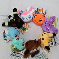 Wholesale New Poke Pikachu Irbesartan Charmander Plush Toys Children Kids Adult Cartoon Stuffed Pendant Keychain Key Rings Doll Toys