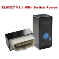 Wholesale Diagnostic Tool Auto Code Reader Super Mini ELM327 V2 ELM Bluetooth OBD II OBD OBD2 Scanner with Power Switch