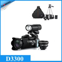 Wholesale Original D3300 Digital Camera Mega Pixels X Digital Zoom X Optical Zoom Telephoto Lens quot LCD Wide Angel Lens Telephotos Lens