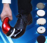 Wholesale Multifunctional household automatic electric shoe cleaner leather care dusting machine