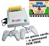 D31 8-bit jeu vidéo systen TV carte jaune Double handle jeu joueur avec carte 400in1 gratuit