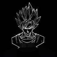 aa dropshipping - 2016 Brand New Goku D Illusion Night Lamp D Optical Lamp AA Battery DC V Dropshipping
