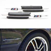 Wholesale For BMW E81 E82 E87 E88 E90 E91 E92 E60 E61 Auto LED steering Fender Side Lamp Car LED Side Marker Turn signal Light With M logo