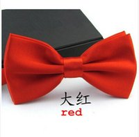 Wholesale Fashion Formal Commercial Bow Tie Male Solid Color Marriage Bow Ties for Men Candy Color Butterfly Cravat Bow Tie