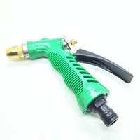 16.5cm Variable Spray Patterns 10cm Garden Yard Water Hose pressure washer Spray gun Nozzle Head Adjust 7 Variable Spray Patterns Copper Car Washing Hose Spray Nozzle