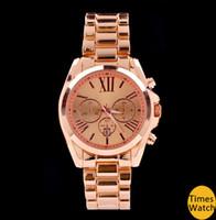 Wholesale Famous brand M wrist gold stainless steel Men women wrist quartz watch luxury rose gold fashion watch
