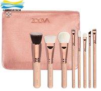 beige eye pencil - Makeup Zoeva Rose Golden Brushes Sets With Case Kits Eyeliner Blending Pencil Zoeva Black Pink Beige Synthetic Fiber Hair Brush