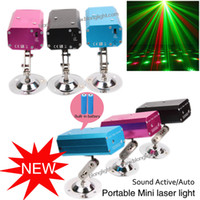 live in usa - 2016 Lastest Red Green Mini Stage Laser Light Christmas Led Light With Built in Battery Dance Floor Lights Laser party light