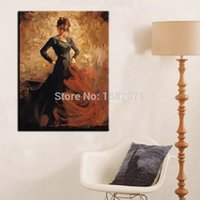beautiful flamenco dancer - Price High Quality Living Room Decoration Hand Painted Beautiful Spain Lady Flamenco Dancer Oil Painting On Canvas