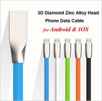 apple zinc - 2016 Rushed Special Offer for Apple for Iphone d Zinc Alloy Metal Usb Cable Micro Fast Charging Data Sync Strong s for Samsung