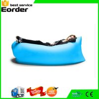 Wholesale 2016 Fast Inflatable Lazy Bag Outdoor Camping Laybag Beach Air Sofa Sleeping Bag Hangout Air Lazy Chair Lounger Saco de dormir