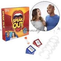 Wholesale Fedex DHL Free Speak Out Game Best Selling Board Game Interesting Party Game for christmas for hallowmas Toys Z482