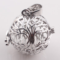 Wholesale Gift For Pregnant Mother Music Ball Hollow Openable Cage Locket Pendant DIY Necklaces for Women Zinc Alloy Round Pendants C166