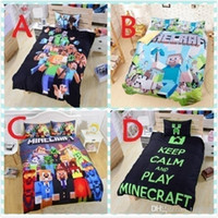 Wholesale AA2016 Hot Sale In Stock Styles Minecraft Bedding Children D Bedding Sets Cartoon My Bedding Steve Kids Bed Sets Twin Full Queen Size