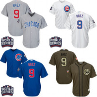 authentic jersey youth - 2016 World Series patch Youth chicago cubs Javier Baez kids Authentic baseball jersey Embroidery logos stitched for sale size S XL