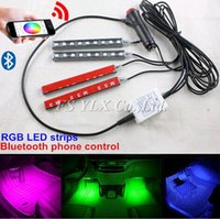 Wholesale Phone Bluetooth Control RGBW Switchback LED Interior Footwell Lights Strips Atmosphere Lamp Strips LED DRL strips