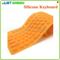 Wholesale Rollable and Foldable Keys USB Silicone Keyboard Dust and Water Resistant PC Computer Wired Keyboard
