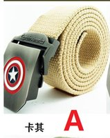 active transportation - 2016 Captain America man general canvas belt leisure canvas belt jeans belt thickening extended free transportation