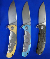 ball systems - CH CH3504 Colors gold black blue S35VN TC4 Titanium Ball bearing system folding Camping Survival Folding Knife Gift Knife