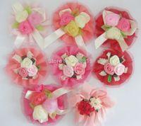 Wholesale FZ0010 cm Chiffon Flower Rosettes Chiffon Ruffled Flower for wedding garment accessories