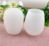 Wholesale New Design Fashion Unbreakable clear Rubber Wine Glass silicone wine glass silicone wine cup wine glasses HHA36