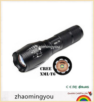 Wholesale High Power CREE XML T6 Modes Lumens LED Flashlight Waterproof Zoomable Torch lights