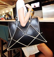beautiful women single - 2016 designer Euro bags fashion cubic totes bags designer handbags geometric drawing handbag beautiful cube shoulder bags totes bags