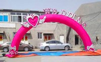 Wholesale The new inflatable arches wedding props flower door opening celebration anniversary happy love dragon lantern