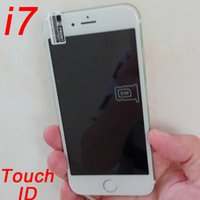 Wholesale Goophone i7 inch Copy Quad Core Fingerprint Smartphone GB GB mp mp Android Show G Lte bit Octa core GB Ram Cell Phone