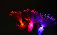Wholesale 50PCS Led bright peacock finger lamp luminous toy colors mixed with battery Cheer props