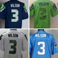 Wholesale 2016 Seahawks Russell Wilson Dark Blue Green White Blue Elite Football Jerseys Mix Order