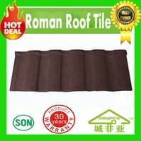 Wholesale Lightweight easy installation colorful stone coated metal roof tiles roofing sheet