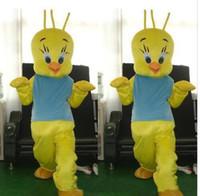 baby tweety - Baby birds chicken chickens chicks wearing light blue high quality cute yellow bird Tweety mascot costume