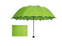 Wholesale New Delicate Multi function Umbrella Lady Princess Magic Flowers Dome Parasol Sun Rain Folding Umbrella For Women