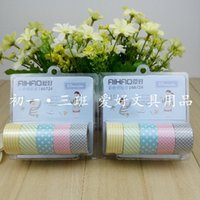 Wholesale Hobby color paper tape hand DIY decorative tape can write label paper