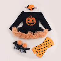 baby watermelon costume - 2016 Halloween Skull Pumpkin Orange Baby Costumes Long Sleeve Baby Girl Romper Dress Lace Tutu Jumpsuit Macacao Bebe Newborn Clothing