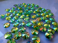 Wholesale Round mm Sew on loose Beads Green ABcolour Rhinestones Accessories For Hand Sewing Stones Diy Strass Diamond