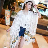 Wholesale 145 cm2016 New Fashion Bohemian Beach Voile Soft Long Scarf Women Printed tassel Wrap Shawl Stole Scarves hijab bandana Pashmina