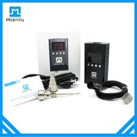 Wholesale Majesty newest electric nail dab nail temperature controller kit with coil heater and electronic nail DHL